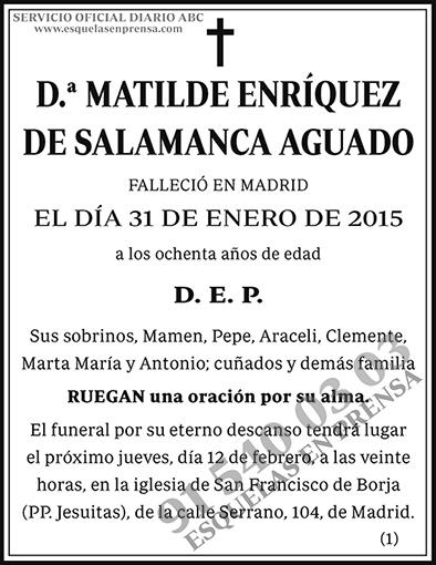 Matilde Enríquez de Salamanca Aguado